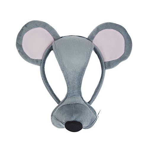 Preisvergleich Produktbild Maus Fasching Anzug Augen Maske auf Haarband mit Sound
