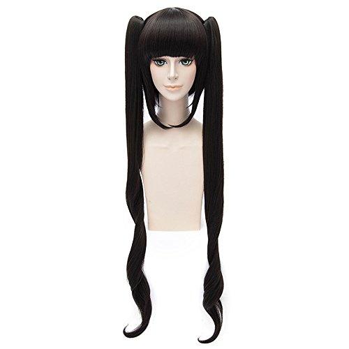LanTing Cosplay Perruque Danjon Ni Deai O Motomeru No Wa Machigatte Black Mix Styled Femmes Cosplay Party Fashion Anime Human Costume Full wigs Synthetic Cheveux Heat Resistant Fiber