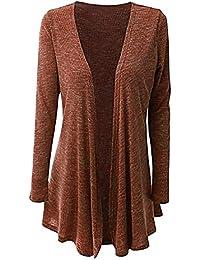 Manteau Cardigan Femme Hiver Simple, Koly Casual Gilet Doux Veste Grande Taille Kimono Cape Coat Longue Manches Longues Solide Haut Femme Pardessus Top vêtements Femmes Overcoat Outwear Automne