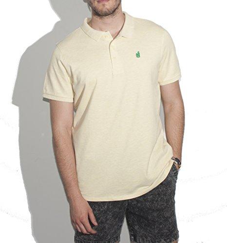 Preisvergleich Produktbild Moringa Herren Poloshirt weiß gelb M