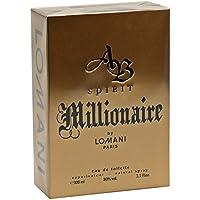 AB Spirit Millionaire Eau De Toilette Spray for Men, by Lomani, 3.3 Ounce by Trifing
