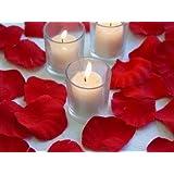 SAVFY® Lot 1000 Pétales de Rose en Soie Tissu Pétale Décoration Fête Mariage Table Baptême - Rouge