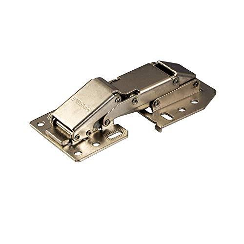 Gedotec Caravanscharnier Hochklappscharnier CH 300 Klappen-Scharnier mit Feder-Schließautomatik | Möbelscharnier für aufliegenden Anschlag | Stahl vernickelt | 1 Stück - Schrank-Scharnier verstellbar
