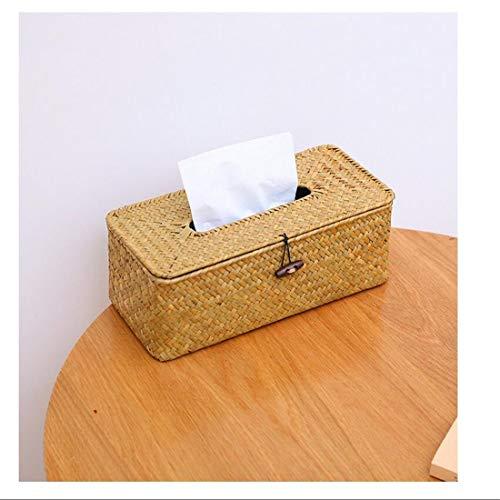 Woven Algen Buch Box Einfache Und Natürliche Papierhandtuchhalter Couchtisch Büro Ziehen Papierrollenhalter Bad Küche Zubehör Aufbewahrungsbox -