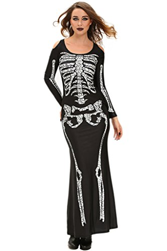 Lange Ärmel Cosplay Fetisch Kostüm Maxikleid (Schwangere Halloween Ideen)