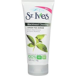 St. Ives Blackhead Clearing Green Tea Scrub 170 gm With Free Ayur Sunscreen 50 ml
