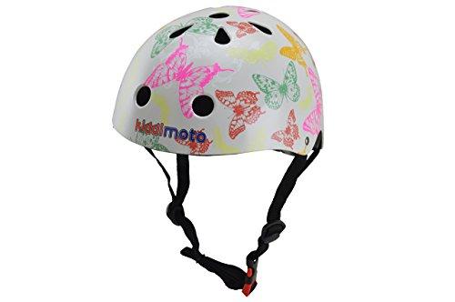 kiddimoto 2kmh048m - Design Sport Helm Butterflies, Schmetterlinge Gr. M für Kopfumfang 53-58 cm, 5-12+ Jahre