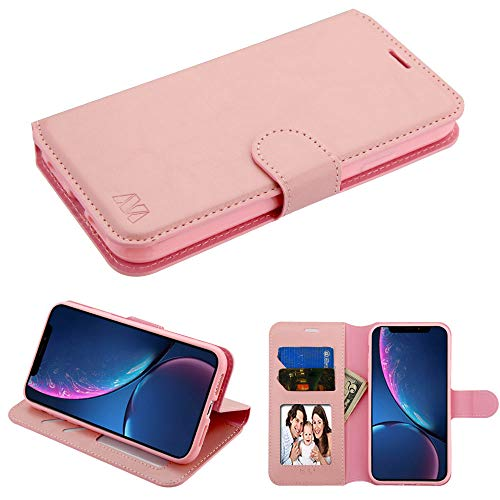 Case + Tempered_Glass + Stylus, MYBAT MyJacket Geldbörse/Clutch/Tasche/Etui für Apple iPhone XR / 9 15,1 cm (6,1 Zoll) Mybat Wallet mit Tablett - Samsung Pcs Metro Handys