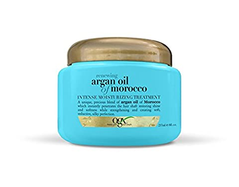 OGX Moroccan Argan Oil Renewing Treatment - hair oils (Women, Shine, Water (Aqua), Cetearyl Alcohol, Dimethicone, Cyclopentasiloxane, Glycerin, Cetyl Alcohol, Glyceryl S, You can use the Moroccan Argan Oil Intensive Moisture Treatment several ways depending on your hair)