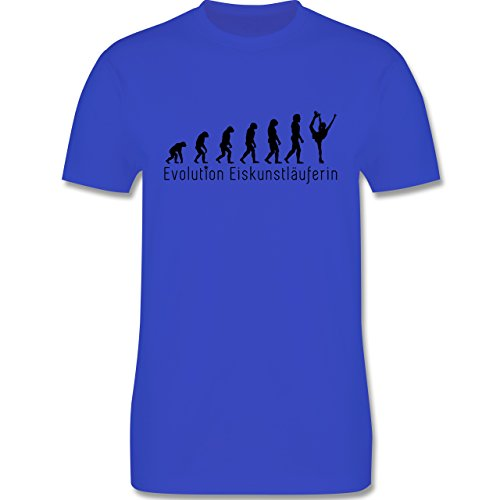 Evolution - Eiskunstläuferin Evolution - Herren Premium T-Shirt Royalblau