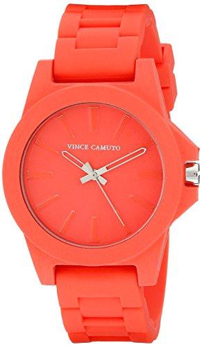 Vince Camuto - VC-5247COCO - Montre Femme - Quartz - Analogique - Bracelet Silicone rouge