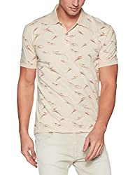 John Players Mens T-Shirt (8902986918404_JCMCTSA160012_Large_Beige)