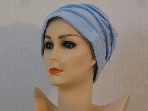 Bonnet chimio clochette bleu ciel