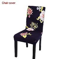 Description du produit      (1) Les beaux motifs peuvent être bien décorés avec des chaises, des tissus mous et des rides confortables. Le motif est clair et ne se fane pas, il peut bien protéger la chaise, garder la chaise fraîche et belle, ...