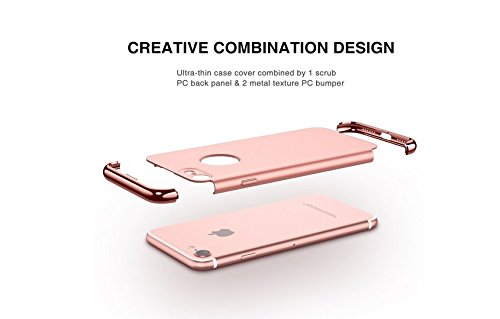 iPhone 6s Plus 6 Plus Hülle vanki® 3 in 1 Ultra-thin 360 Anti-Scratch Shockproof Hard PC Skin Smooth Case Cover with Electroplate Bumper für iPhone 6/6s Plus (iPhone 6/6s Plus, color4) color4