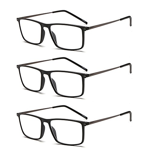 Suertree Lesebrille Ultralight Computer Gläser Frauen Männer schlanke Leser Vintage Edelstahl Frame Brillen 2.0X BM501