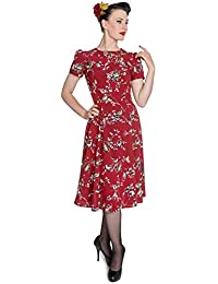 329ffe43328 Hell Bunny Birdy 40s 50s Tea Party Pin up Landgirl WW2 Retro Vintage Style  Dress