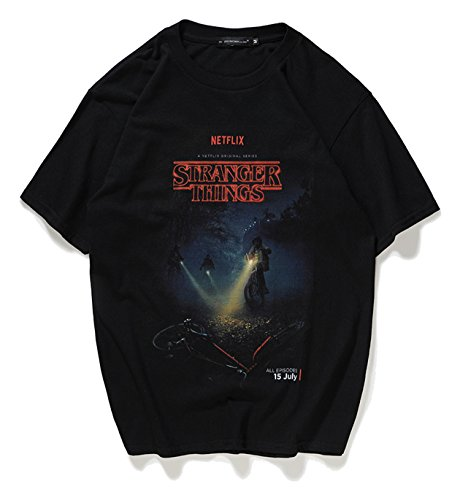 Pizoff t-shirt streetwear stranger things oversize stampa cartoon divertente casual hipster unisex cotone