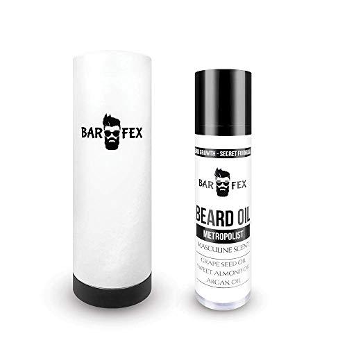 BarFex Bartöl mit männlichem Duft - Beschleunigung Bart Wachstum - Made in Germany