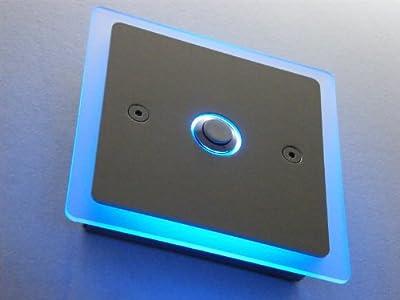 Edelstahl Türklingel Klingelplatte Klingel LED ED211, Lasergravur:Keine Lasergravur ; Plexiglasbeleuchtung:Weiss; Schriftart:Keine von edelstahl-deluxe24 - Lampenhans.de