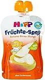 Hipp Früchte-Spaß Banane-Birne-Mango, 6-er Pack (6 x 90 g) - Bio