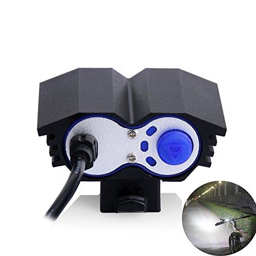 Lámpara de la Bici del búho, LED Frontal para Manillar de Bicicleta + Paquete + Cargador de la batería...