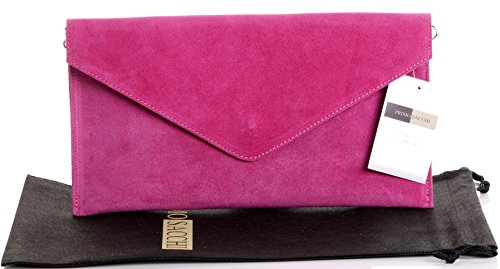 Suede Pink Bag: Amazon.co.uk