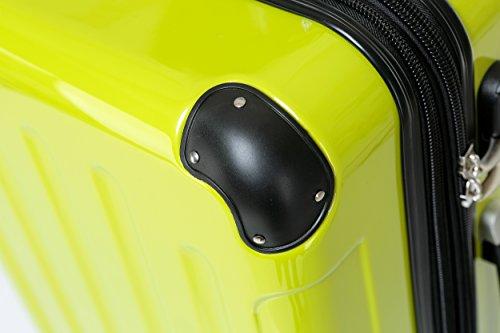 BEIBYE Zwillingsrollen 2048 Hartschale Trolley Koffer Reisekoffer in M-L-XL-Set in 14 Farben (Set, GRÜN) - 2