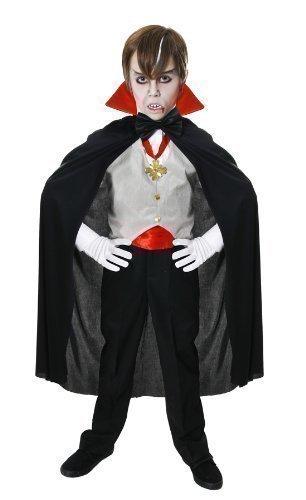 tüm Klassisches Vampir Outfit Größen 4-12 Jahre - 10-12 Jahre (Halloween-outfit Für Kinder)