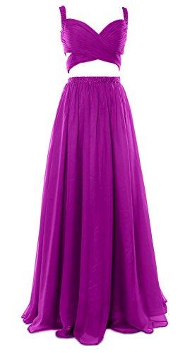 MACloth - Robe - Ajourée - Sans Manche - Femme Violet - Fuchsia