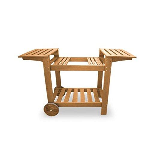 Simogas CBR63 Chariot Bois pour plancha jusqu'à 60cm dim : 138 x 83 x 50, Marron, 138 x 50 x 83 cm