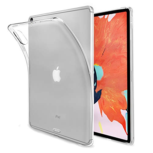 MaxKu iPad Pro 12.9 2018 Hülle, Ultra Slim Schutzhülle Soft Silikon TPU Bumper Case Cover Handyhülle für iPad Pro 12.9 2018, Transparent (Ipad Soft-cover)
