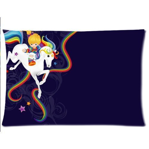 custom-rainbow-brite-and-starlite-pillowcase-kissenbezuge-20x30-twin-sides-zippered-rectangle-pillow