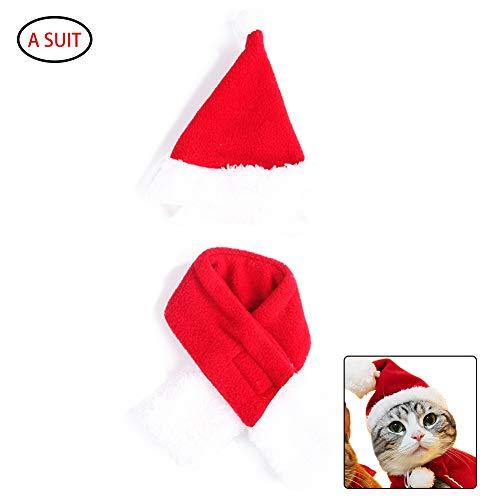 JER 2ST Pet Weihnachten Hat Schal Hund Katze -