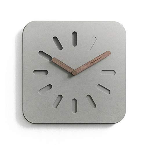 Wqwq orologio da parete creativo minimalista europeo  orologio domestico  muto, semplicità moderna  per soggiorno, camera da letto, ufficio, libreria,gray,square
