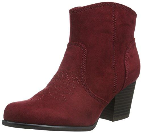 s.Oliver Damen 25328 Kurzschaft Stiefel Rot (Bordeaux 549)