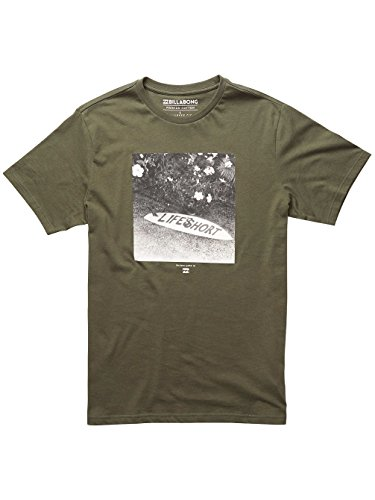 Billabong Herren Lifes Short Sleeve Tee T-Shirt Military