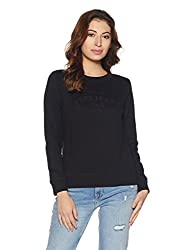 Pepe Jeans London Womens Cotton Sweatshirt (PILT200015_Black_X-Large)