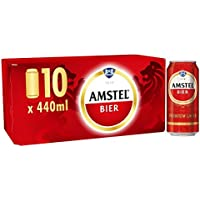 Amstel Bier Beer Cans, 10x440ml