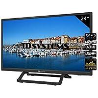 TD Systems - Televisor K24DLX10H, 24 Pulgadas, 1X HDMI, VGA, USB, 800 PCI Hz, Grabador Reproductor, DVB-T2/C/S2, Modo Hotel, Negro