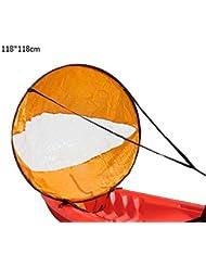 Al aire libre guerreros popa Paddle Kayak viento Sail Kit 46cm Kayak canoa accesorios, compacto, portátil, fácil configuración y despliega rápidamente