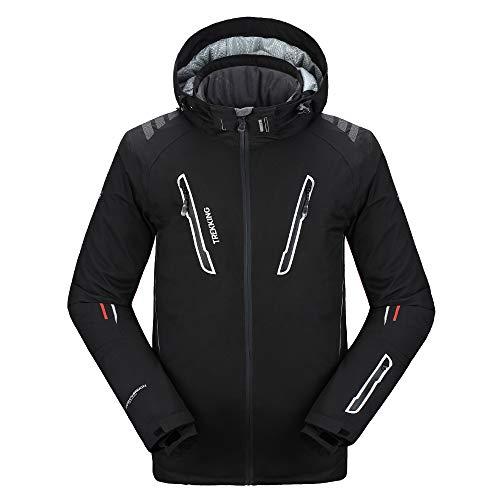 PELLIOT Outdoor-Ski-Abnutzungs Unisex Berufsbergsteigen Wasserdichte Breathable Kleidung, S, schwarz