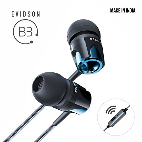 Evidson Audio B3 In-Ear Earphones with Mic (Blue)
