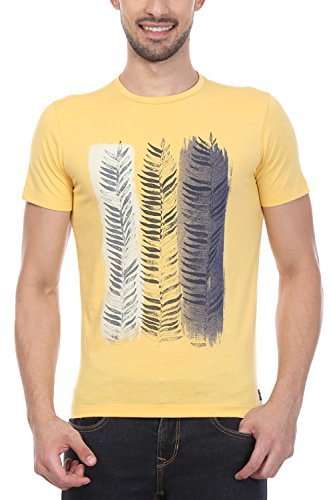 Peter England Yellow T Shirt  available at amazon for Rs.420