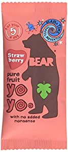 Bear Yoyo 100 Percent Fruit Rolls 20 g (Pack of 18)  Strawberry