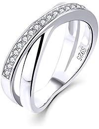 Amazon.es: Zirconia anillos de compromiso - 20 - 50 EUR: Joyería