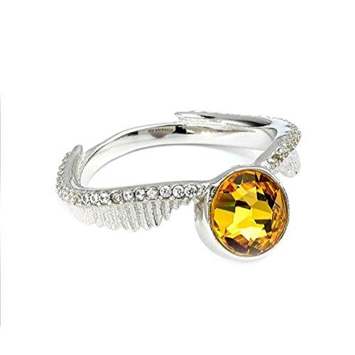 Offizielle Harry Potter Swarovski Kristalle Golden Snitch Ring