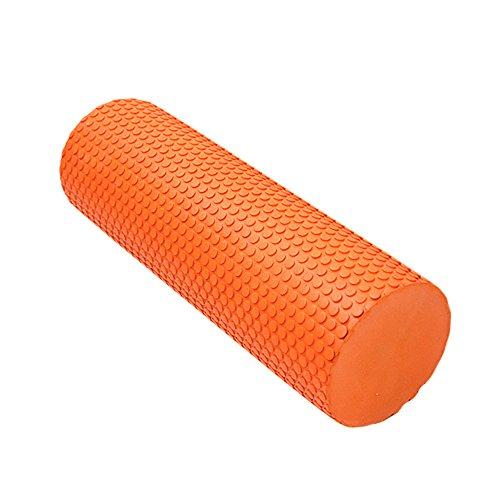 Preisvergleich Produktbild HUIMEIDE Schaumstoff Faszienrolle Standard EVA Foam Roller für Muskeln und Therapie Faszien Rolle für Triggerpunkt Schaumstoffrollen Roller zur Triggerpunkt-Selbst Fitness-Rolle für Yoga Massage-Rolle aus für tiefgehende Muskelmassage (Orange)
