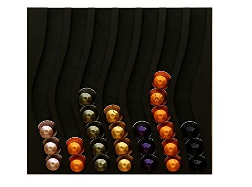 Dispensador de cápsulas nespresso, 70 cápsulas (negro)
