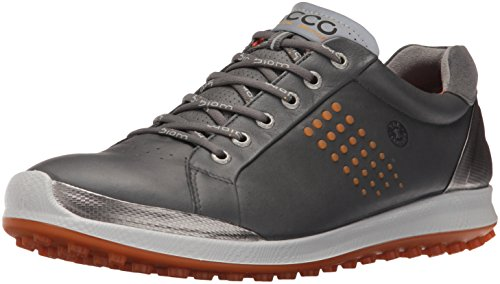 ECCO Herren Men's Golf Biom HYBRID 2 Golfschuhe, Grau (50027DARK Shadow/ORANGE), 41 EU - Ecco Hybrid Golf Biom